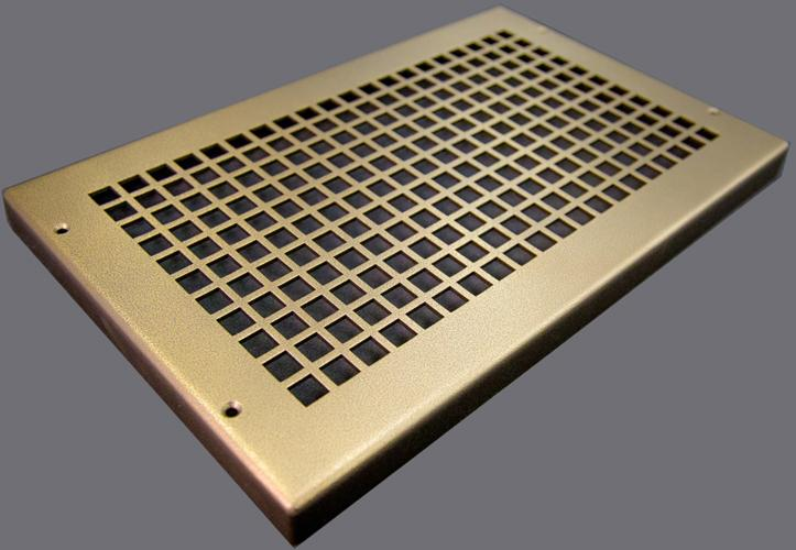 end cap metal baseboard register